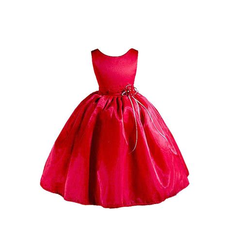 amj dresses elegant red flower girl christmas dress on