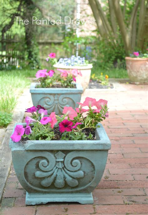 chalk paint toronto update concrete planters with a wash of provence chalk