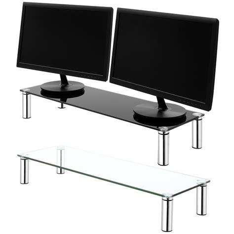mensola per pc grande doppio monitor schermo saliscendi tubo mensola