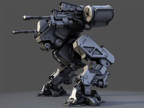 Mecha Model 3d mech robot 3d model fg mech by dmitriev vasiliy