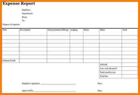expense form business expense claim form sle business