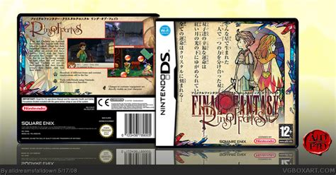 Ring Of Fates Nds Nintendo chronicles ring of fates nintendo ds box cover by alldreamsfalldown