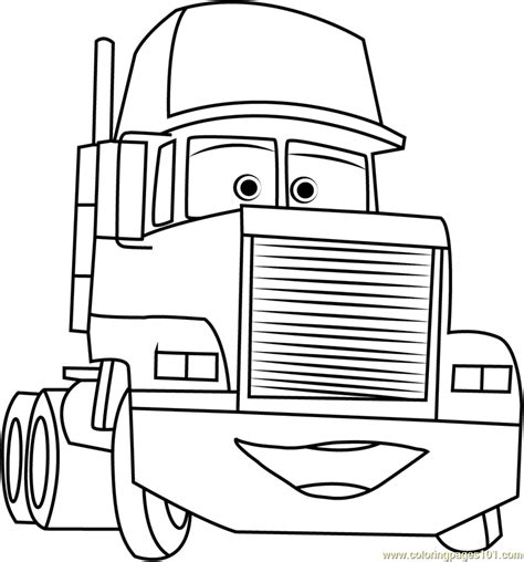 coloring pages cars mack mack trailer coloring page free cars coloring pages