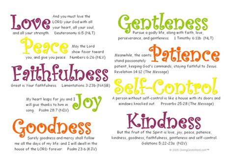 fruits of the spirit fruits of the spirit