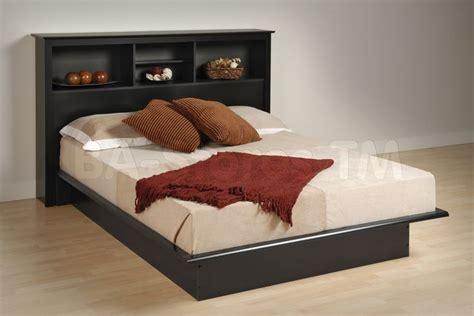 Black Wood Headboard Black Platform Bed With Bookcase Headboard Prepac Furniture Beds Grey Painted