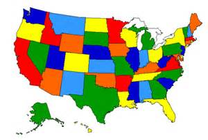 usa powerpoint map 50 editable states no text names