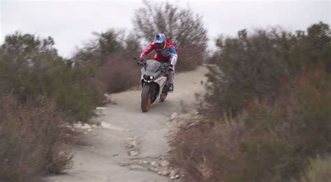 aaron gwin on a chainless ktm rc390 downhill is