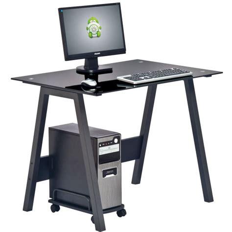 scrivania per computer fisso scrivania per pc con piano in vetro e stand porta cpu