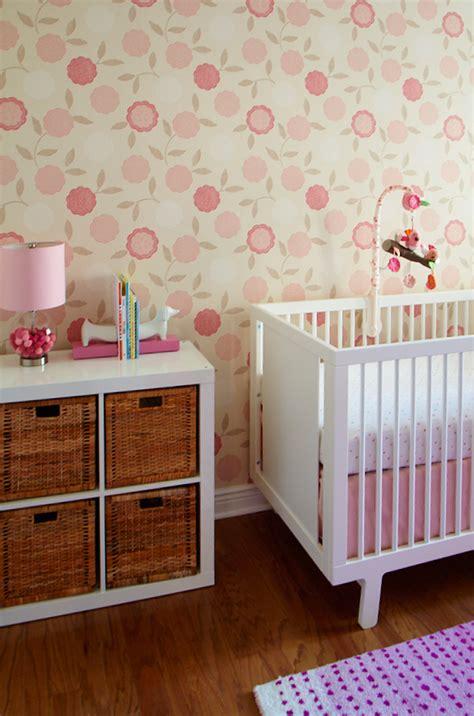 girly nursery wallpaper olivia s modern clean and girly nursery project nursery