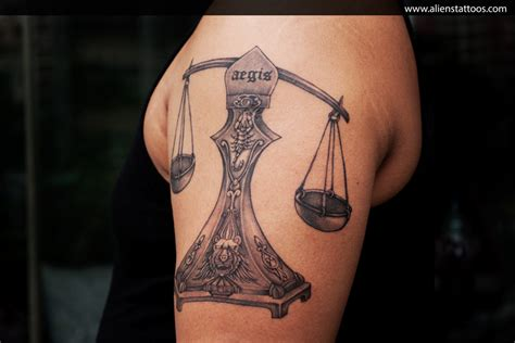 tattoo 3d libra libra tattoo designed and inked by sunny at aliens tattoo