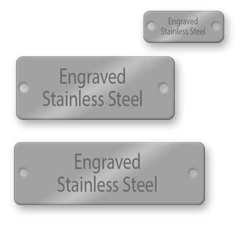 engraved tags engraved rectangle stainless steel tags naptags