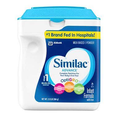 similac total comfort vs similac sensitive similac advance infant formula with iron stage 1 34 8 oz