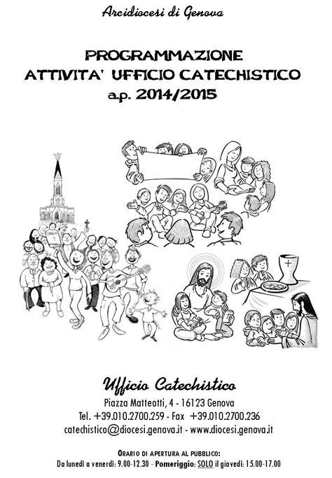ufficio catechistico genova arcidiocesi di genova programmazione attivit 224 ufficio