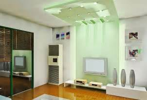 light green tv wall and ceiling in living room