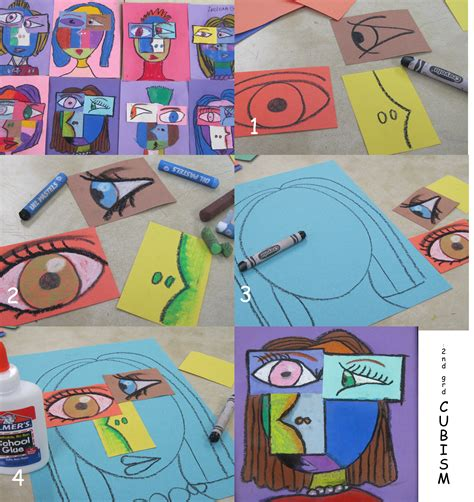 printable art projects for elementary students 2nd grade cubism oil pastels like the ways the facial
