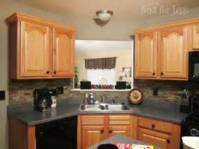 How To Put Crown Molding On Kitchen Cabinets Mini Makeover Crown Molding On My Kitchen Cabinets How To Nest For Less