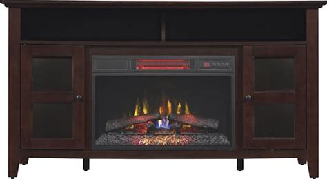 Bell O Media Cabinet With Built In Electric Fireplace For