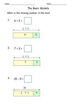 diagram to solve subtraction addition subtraction solve word problems math worksheets bar model diagram