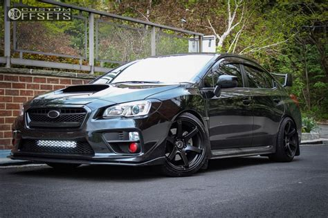 subaru wrx all black 2017 2017 subaru wrx enkei t6s tein coilovers