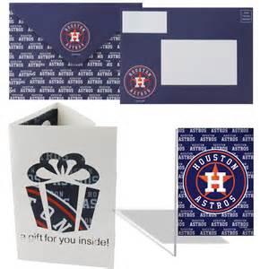 houston astros greeting card garden flag gift set