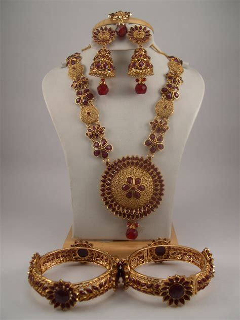Antique Jewelry Necklace Sets Gold Hematite Beads