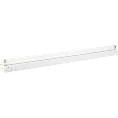 Fluorescent Lights At Home Depot by Progress Lighting 1 Light 48 In White Fluorescent