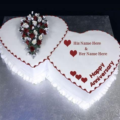 heart shape anniversary cake wishes image   editing