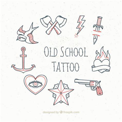 imagenes de tatuajes retro set de bocetos de tatuajes vintage descargar vectores gratis