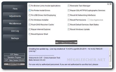 reset permissions tool quot crisis aversion tool quot lets user reset windows settings