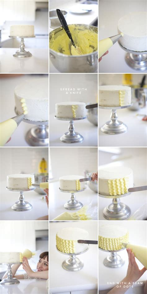 online tutorial cake decorating styled eats how to perfectly frost a scallop cake