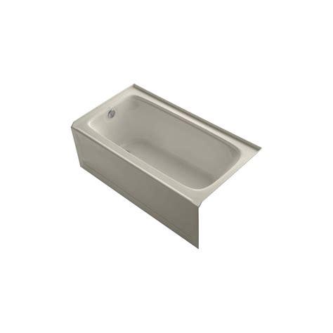 kohler bancroft bathtub kohler bancroft 5 ft left drain bathtub in sandbar k 1151