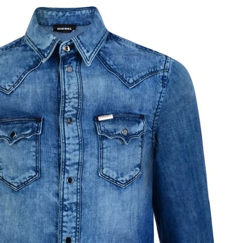 Boy Denim Shirt diesel boys washed blue denim shirt diesel from