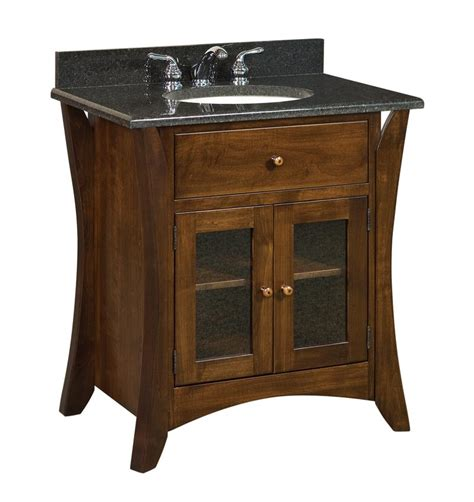 amish 33 quot hesston shaker single bathroom vanity cabinet