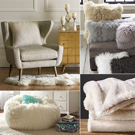 faux fur home decor faux fur home decor popsugar home