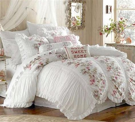 shabby chic ruffled comforter shabby boho vintage iv pinterest
