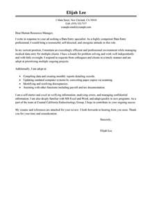 Data Entry Officer Cover Letter by Best Data Entry Cover Letter Exles Livecareer