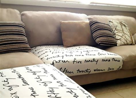diy sofa cushions tuck fabric into sofa cushions to disguise marks and dirt