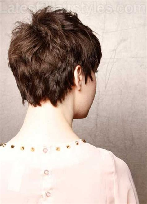 back viewof short shag hairdstyles choppy pixie cut back view pixie pinterest pixie cut