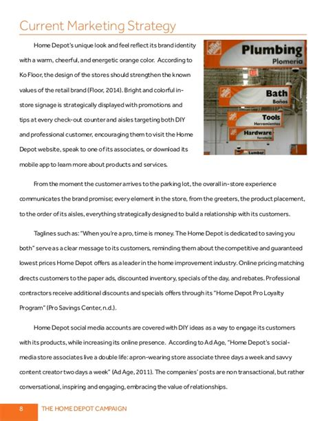 home depot marketing plan imc 610 integrated communications plan for home depot