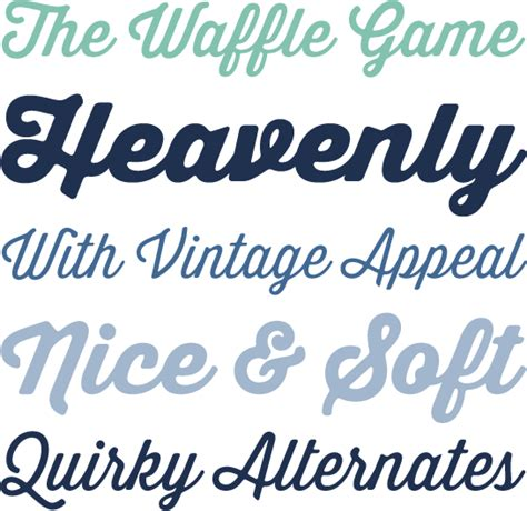 Thirsty Soft Font Family Linotype