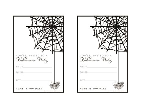 printable halloween invitations to color 9 fun stylish ideas for halloween weddings a printable