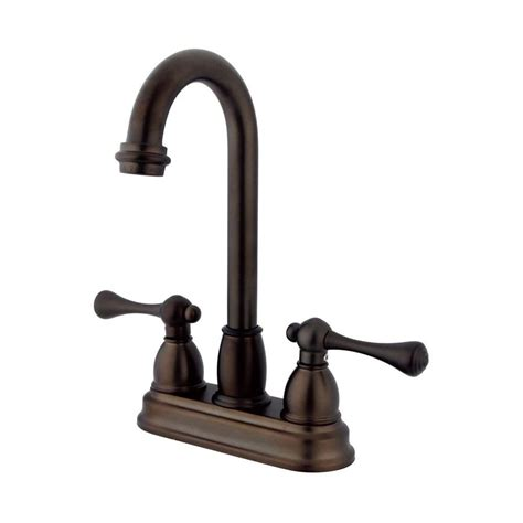 kitchen faucet rubbed bronze shop elements of design chicago rubbed bronze 2 handle kitchen faucet at lowes