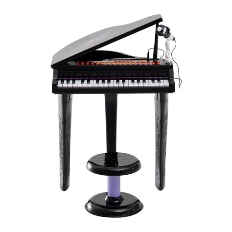 Toddler Piano With Stool by Qaba Mini Electronic Musical Piano 37 Key Keyboard