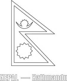 nepal flag coloring page download free nepal flag