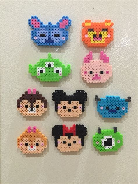perler images perler tsum tsum completed perler projects