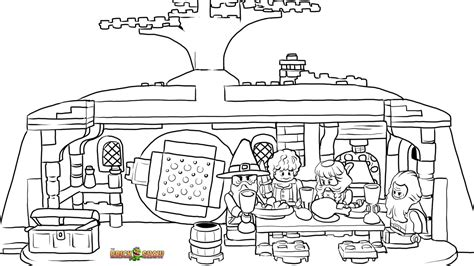 lego the unexpected gathering coloring page printable