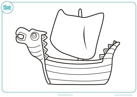 barco dibujo dibujos de barcos para colorear mundo primaria