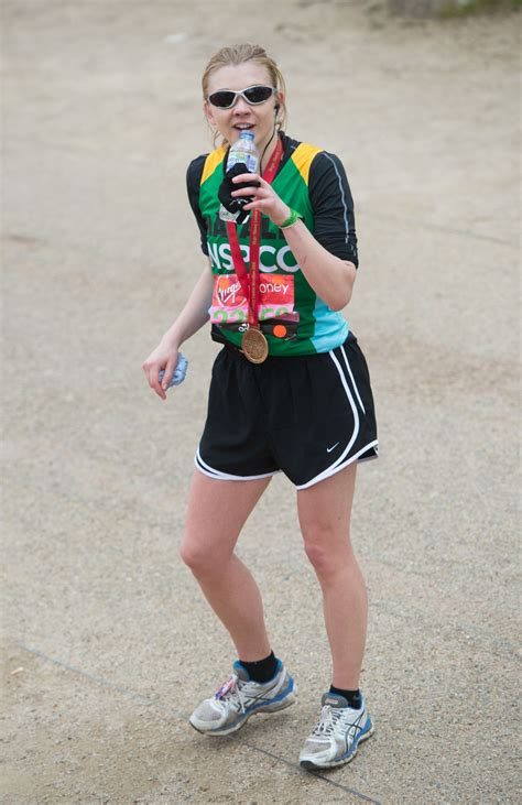 natalie dormer marathon natlie dormer running at money marathon in