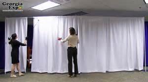 Diy Wall Draping Pipe And Drape Backwall Set Up Georgia Expo Youtube