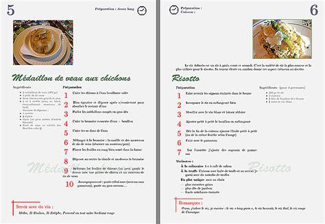 faire livre de cuisine faire un livre de recettes avec vos photos montage photo